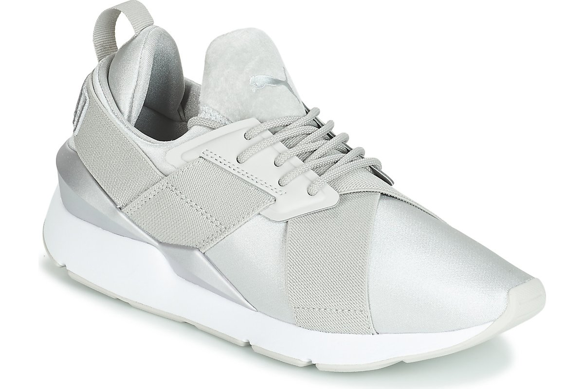 puma muse womens grey grey trainers womens