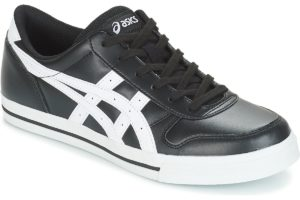 asics aaron mens black black trainers mens