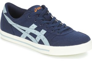 asics aaron mens blue blue trainers mens