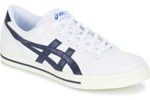 asics aaron mens white white trainers mens