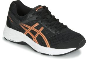 asics gel contend womens black black trainers womens