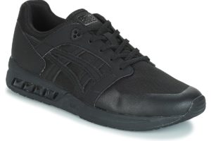 asics gel saga mens black black trainers mens