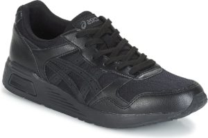 asics lyte trainer mens black black trainers mens