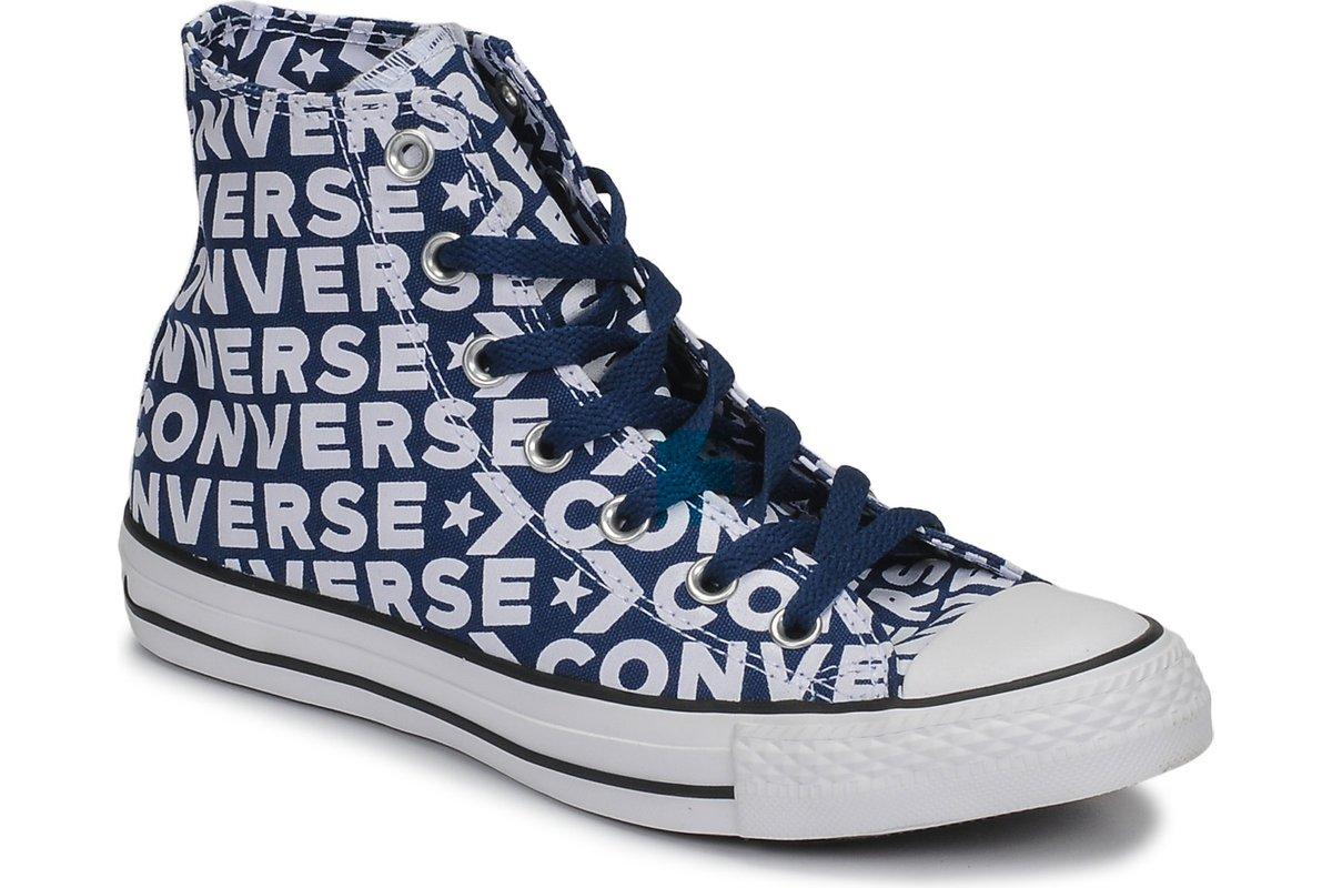 converse all star high mens blue blue trainers mens