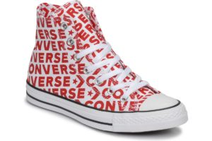 converse all star high mens red red trainers mens