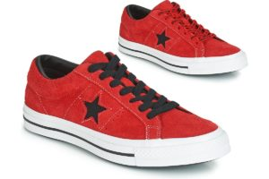 converse one star mens red red trainers mens
