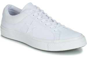 converse one star mens white white trainers mens