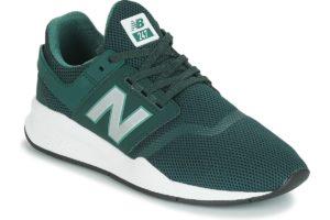 new balance 247 mens green green trainers mens