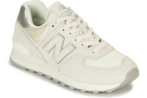 new balance 574 womens white white trainers womens