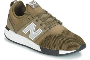 new balance 247 mens green green trainers mens