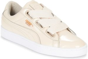 puma basket womens beige beige trainers womens