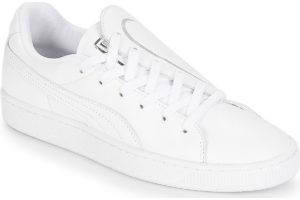 puma basket womens white white trainers womens
