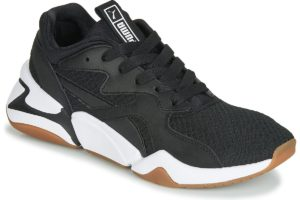 puma nova womens black black trainers womens