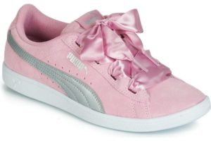 puma vikky womens pink pink trainers womens