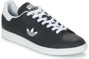 adidas stan smith mens black black trainers mens