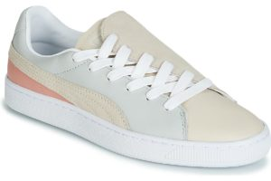 puma basket womens grey grey trainers womens