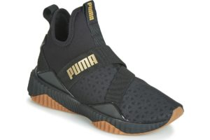 puma defy womens black black trainers womens