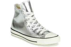 converse all star high womens silver silver trainers womens