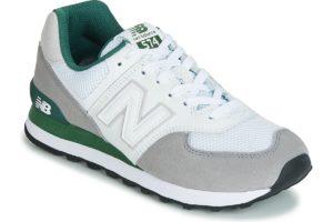 new balance 574 mens white white trainers mens