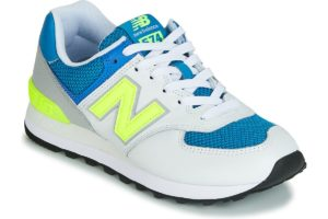 new balance 574 mens white white trainers mens