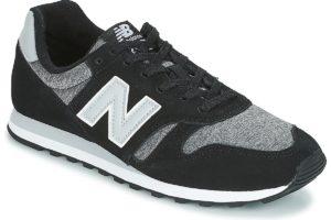 new balance 373 mens black black trainers mens