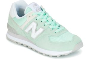 new balance 574 womens green green trainers womens