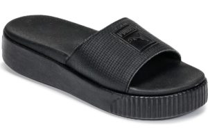 puma platform slide womens black black trainers womens