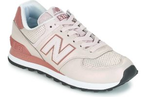 new balance 574 womens pink pink trainers womens