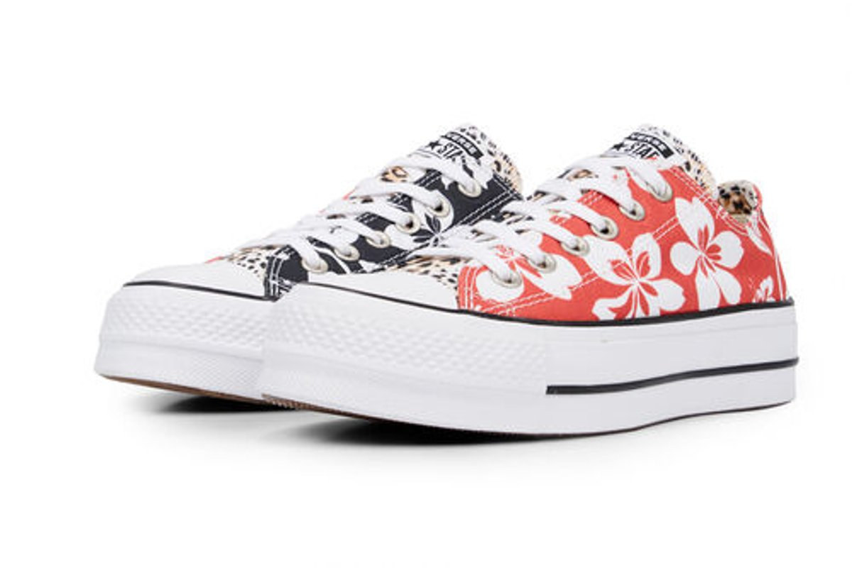 971a4020778 converse-all star ox-womens-white-565794C-white-sneakers-. converse chuck  taylor all star hawaiian mix platform low top white