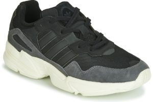 adidas yung mens black black trainers mens