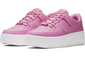 nike-air force 1-womens-pink-ar5339-601-pink-sneakers-womens