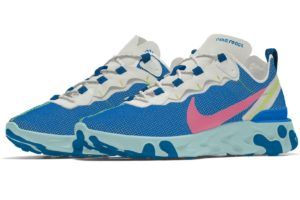 Nike React Element Dames Blauw Cj5275 992 Blauwe Sneakers Dames