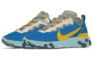 Nike React Element Heren Blauw Cj5274 992 Blauwe Sneakers Heren
