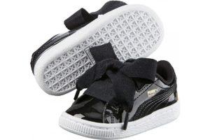 Puma Basket Meisjesjongens Zwart 363352 01 Zwarte Sneakers Meisjesjongens