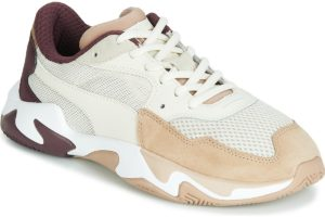 puma storm womens white white trainers womens
