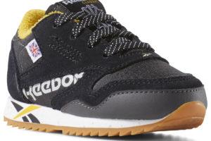 reebok-classic leather ripple mu-Kids-black-DV7448-black-trainers-boys