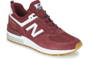 new balance 574 mens purple purple trainers mens