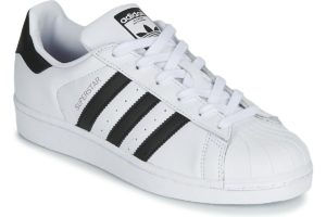 adidas superstar womens white white trainers womens