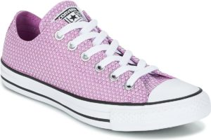 converse all star ox womens pink pink trainers womens