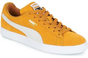 puma suede mens yellow yellow trainers mens