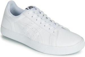 asics classic mens white white trainers mens