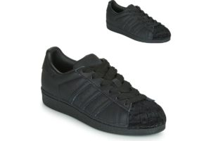 adidas superstar womens black black trainers womens