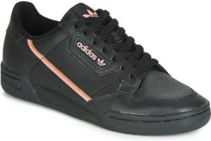 adidas continental 80 womens black black trainers womens