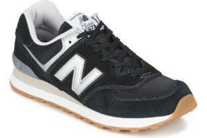 new balance 574 mens black black trainers mens