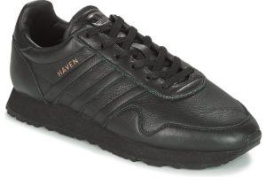 adidas haven mens black black trainers mens
