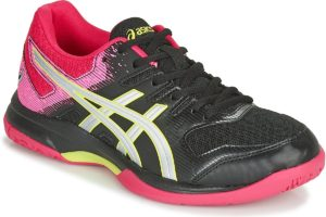 asics gel rocket womens black black trainers womens