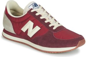 new balance 220 mens red red trainers mens