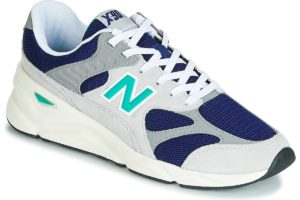 new balance x90 mens grey grey trainers mens