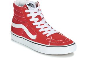 vans-sk8-hi (high-top trainers) in-womens-red-vn0a4bv6jv61-red-trainers-womens