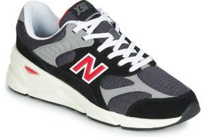 new balance x90 mens black black trainers mens